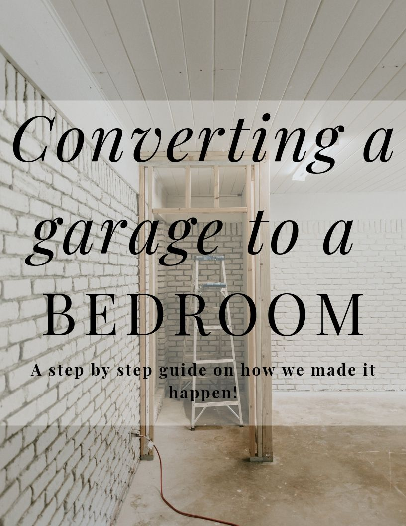 Convert your garage into a bedroom
