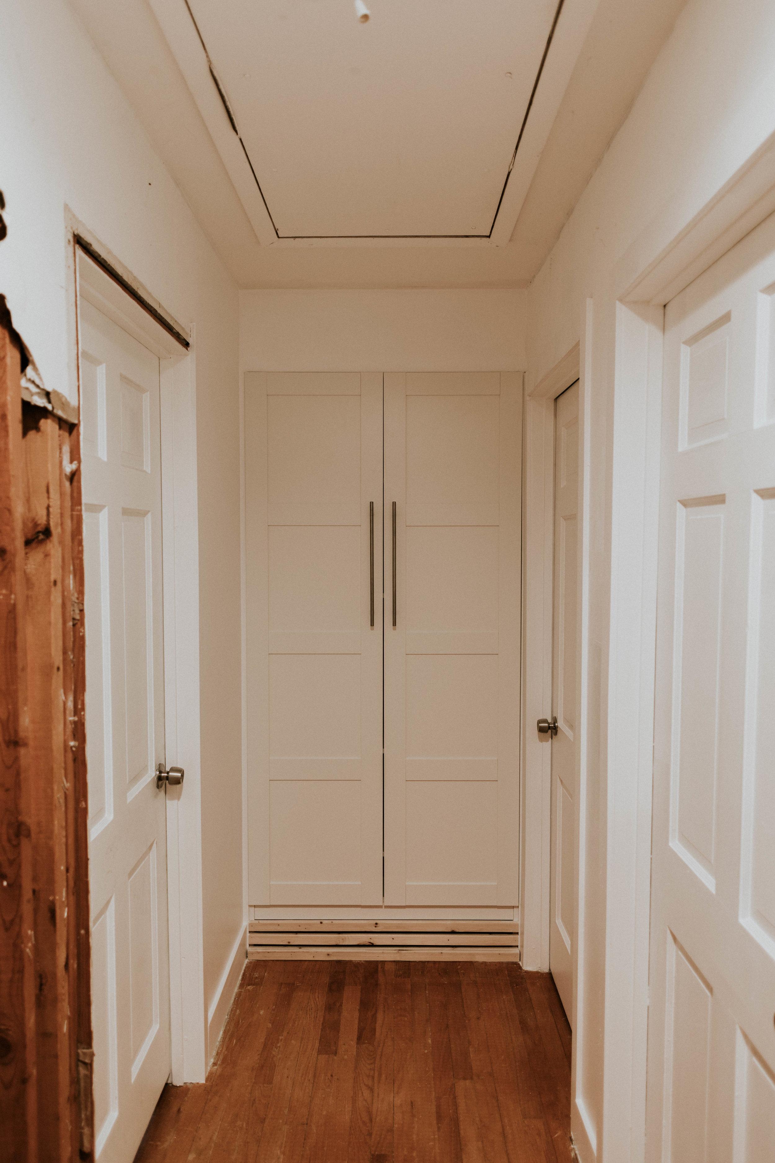 Ikea Pax Wardrobe in hallway