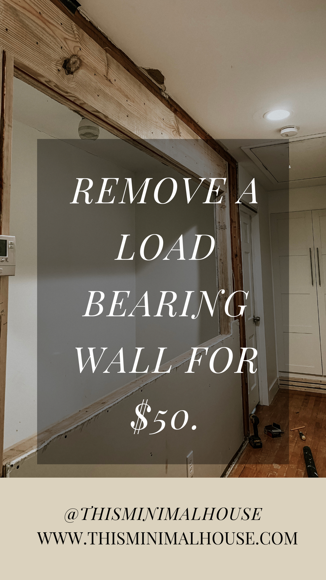 Removing a load bearing wall in your home!