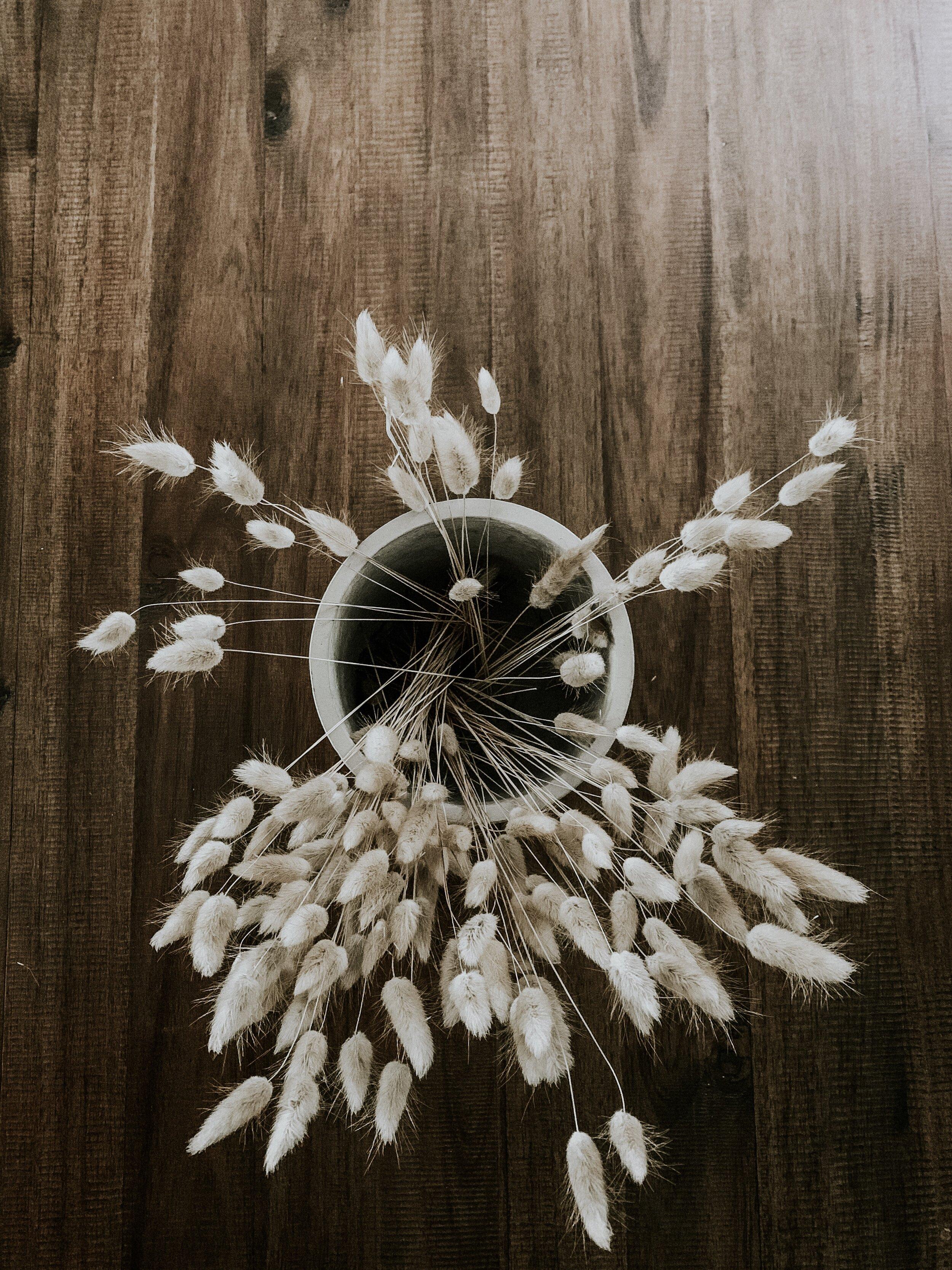 Pampus grass table centerpiece