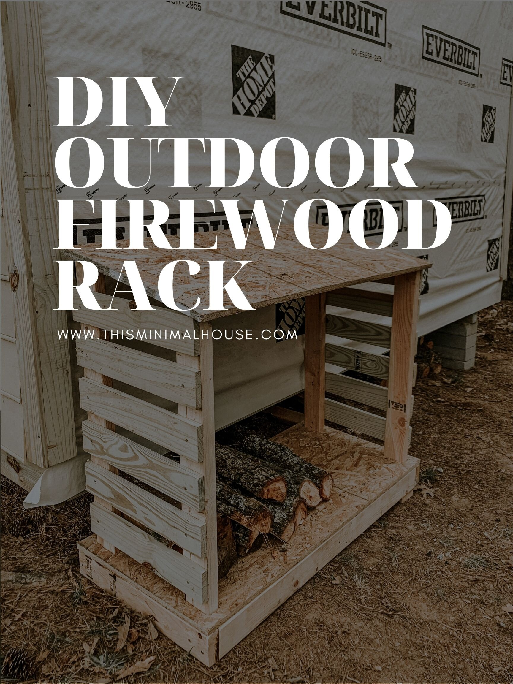 DIY OUTDOOR FIREWOOD RACK