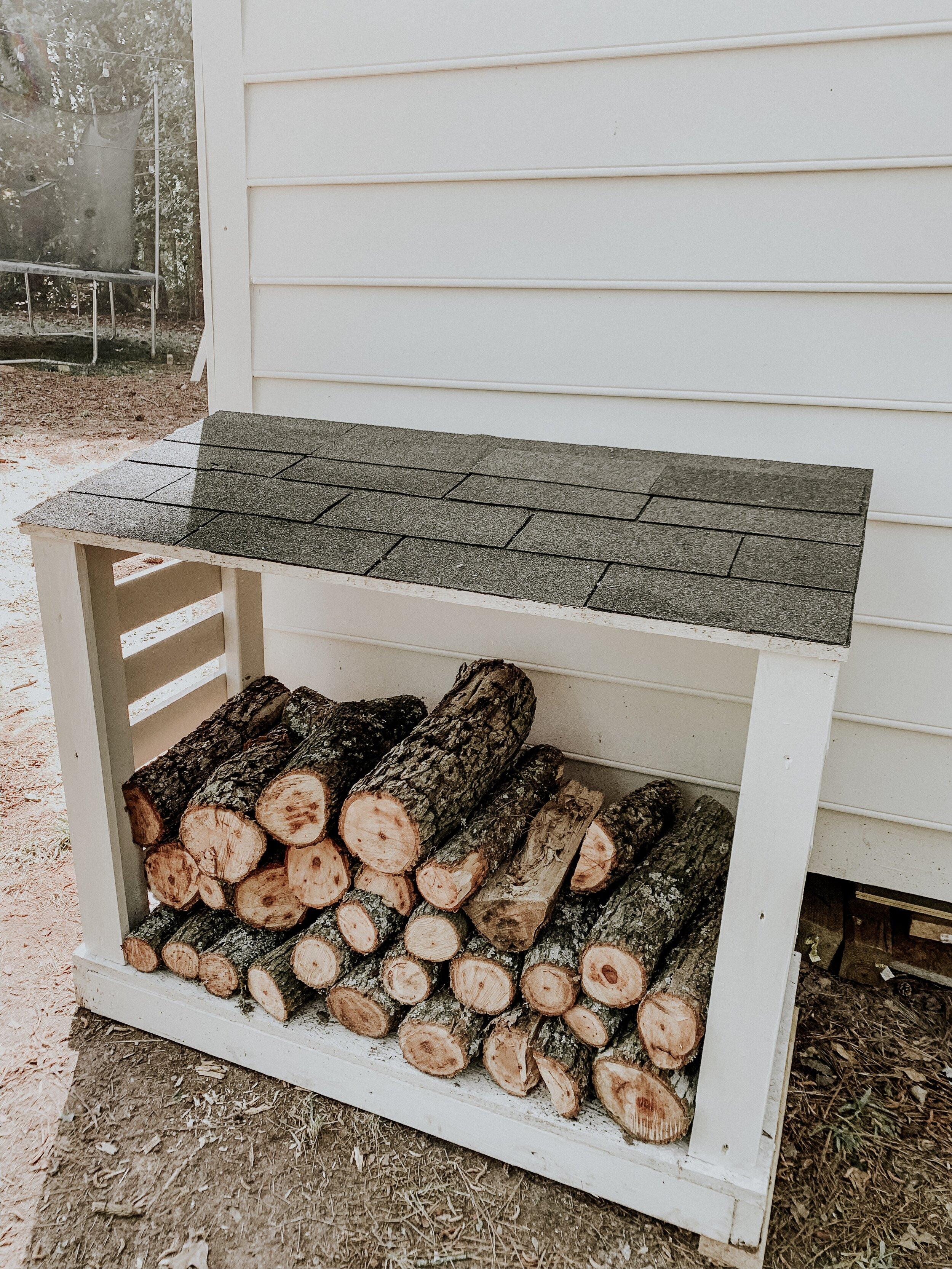 Modern firewood rack
