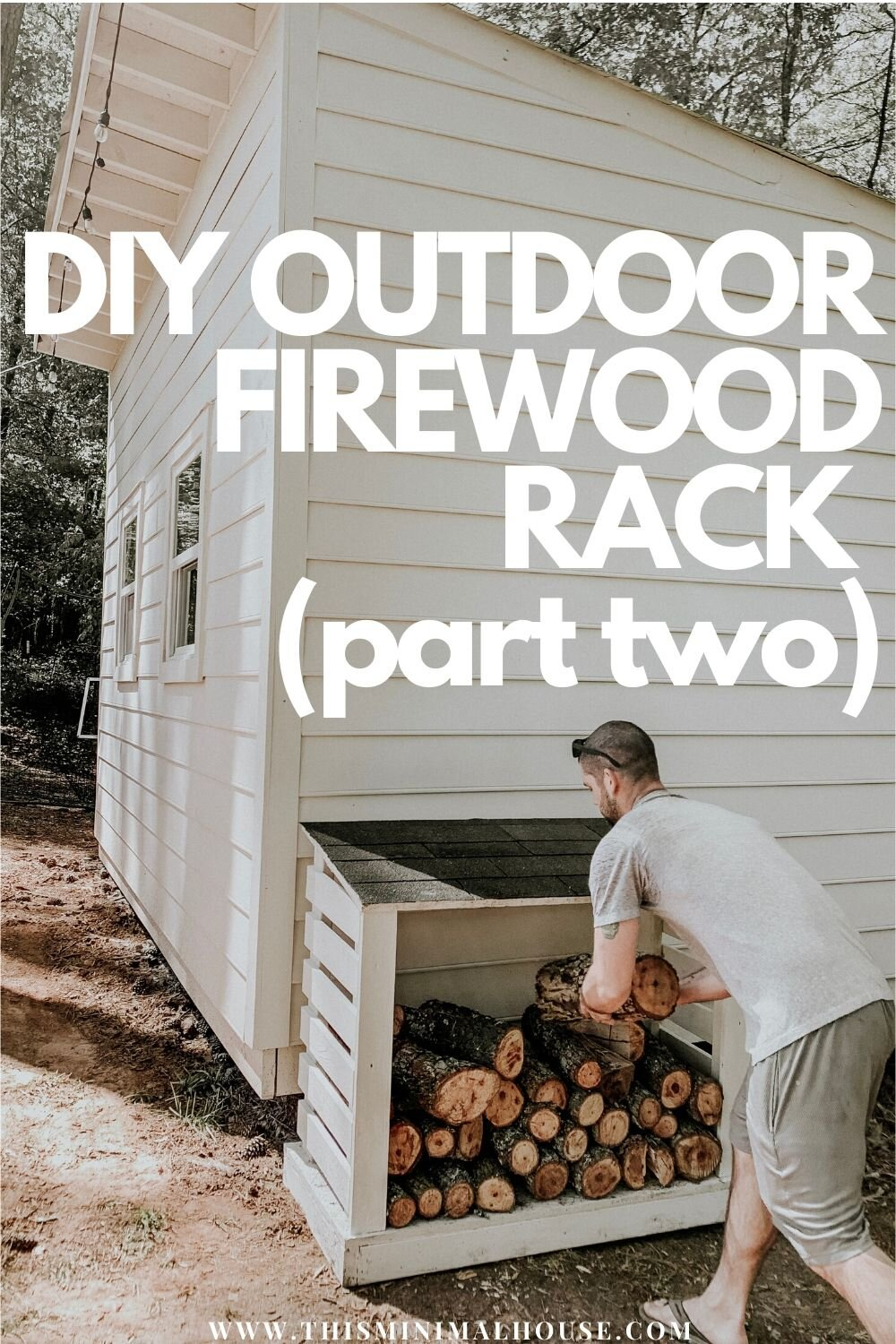 Build a firewood rack using scrap wood!