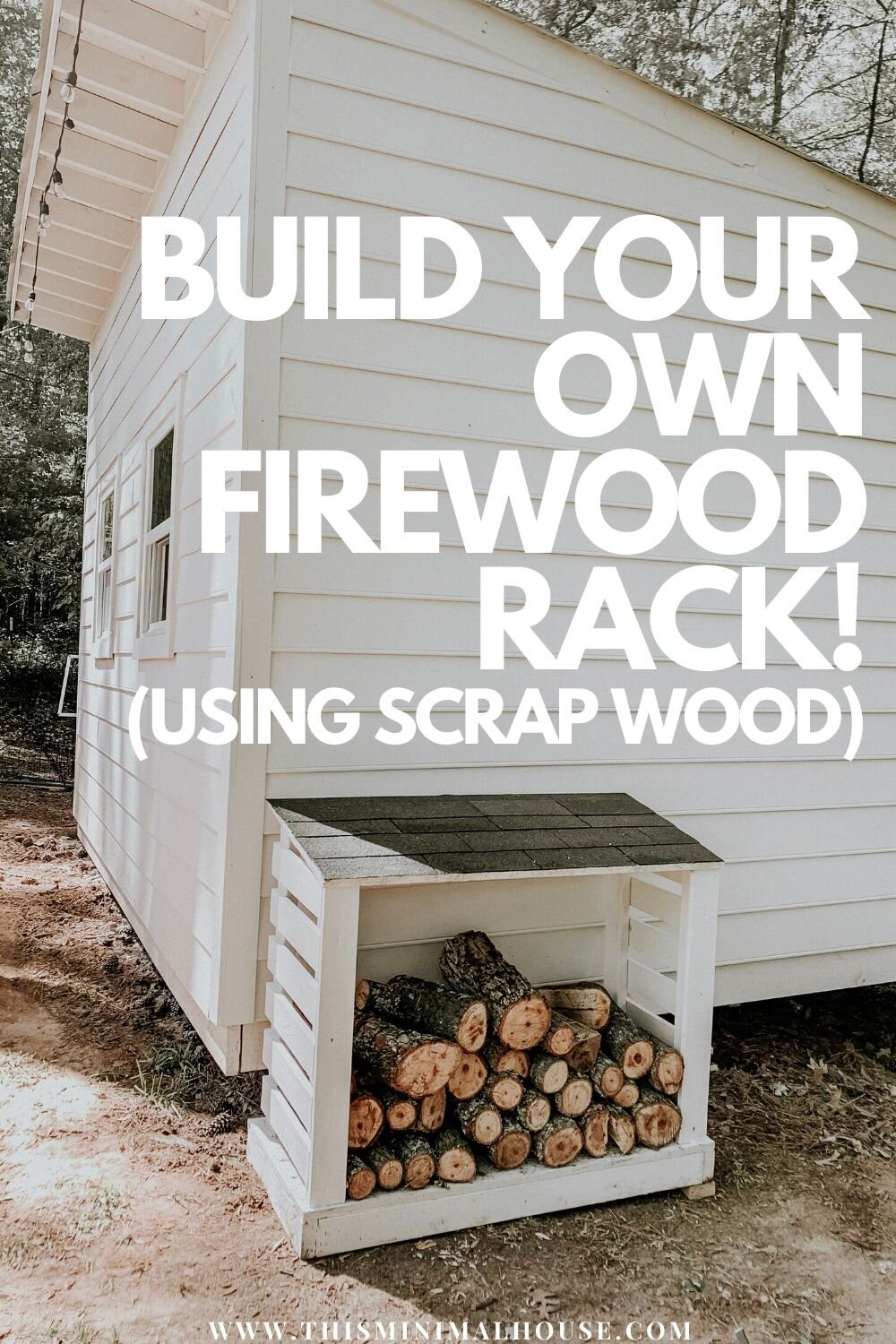 Easy tutorial for building your own firewood rack