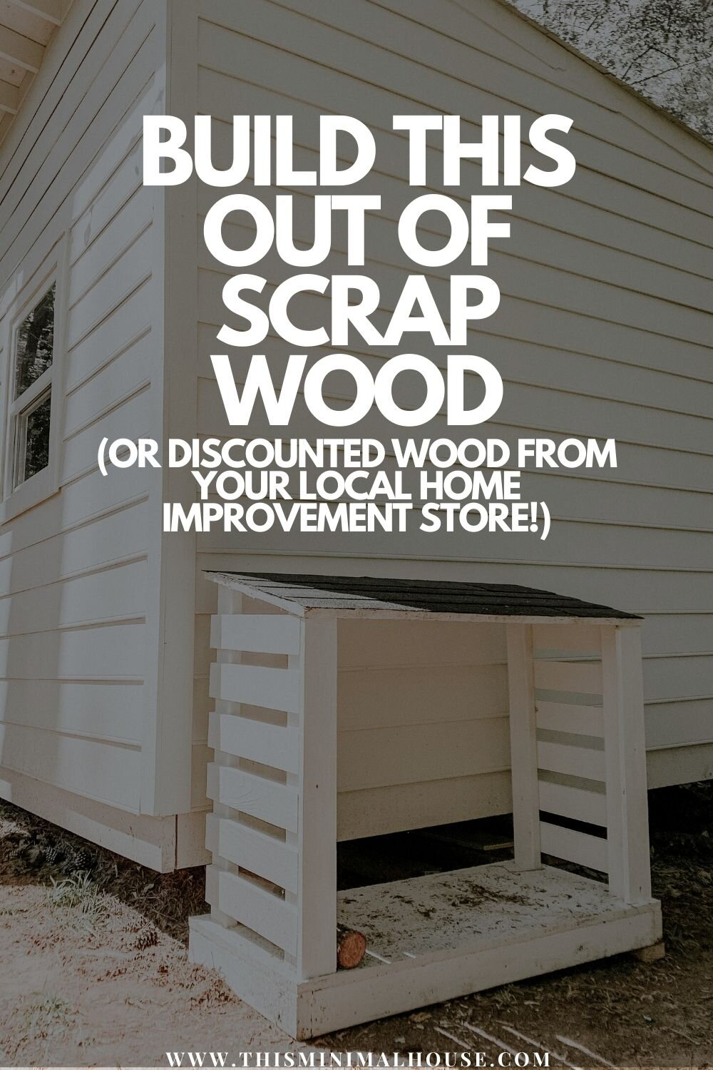 Build this wood storage rack out of scrap wood