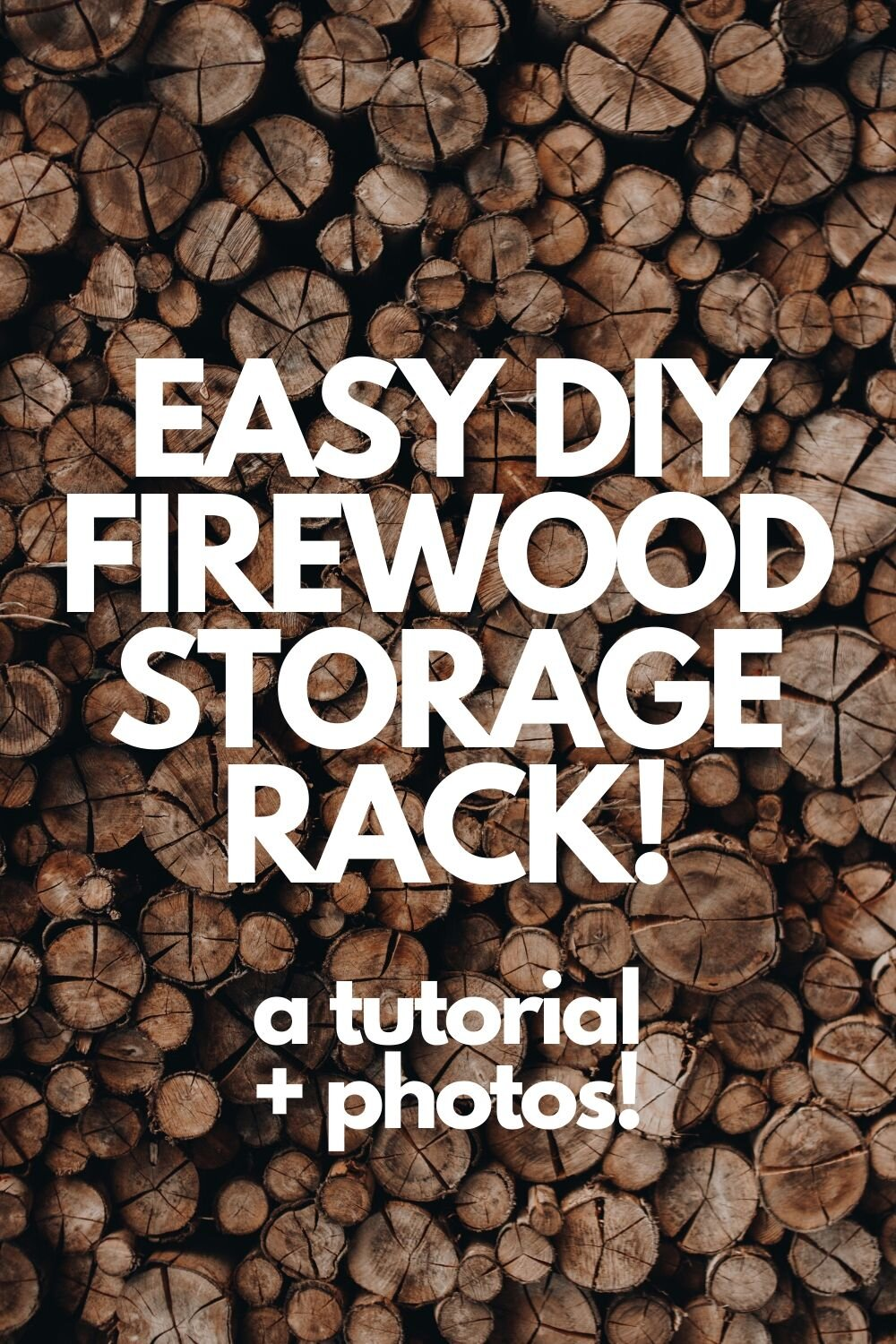 As easy DIY firewood storage rack using scrap wood!