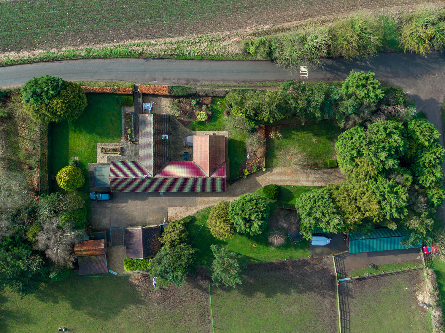 birds eye view of property