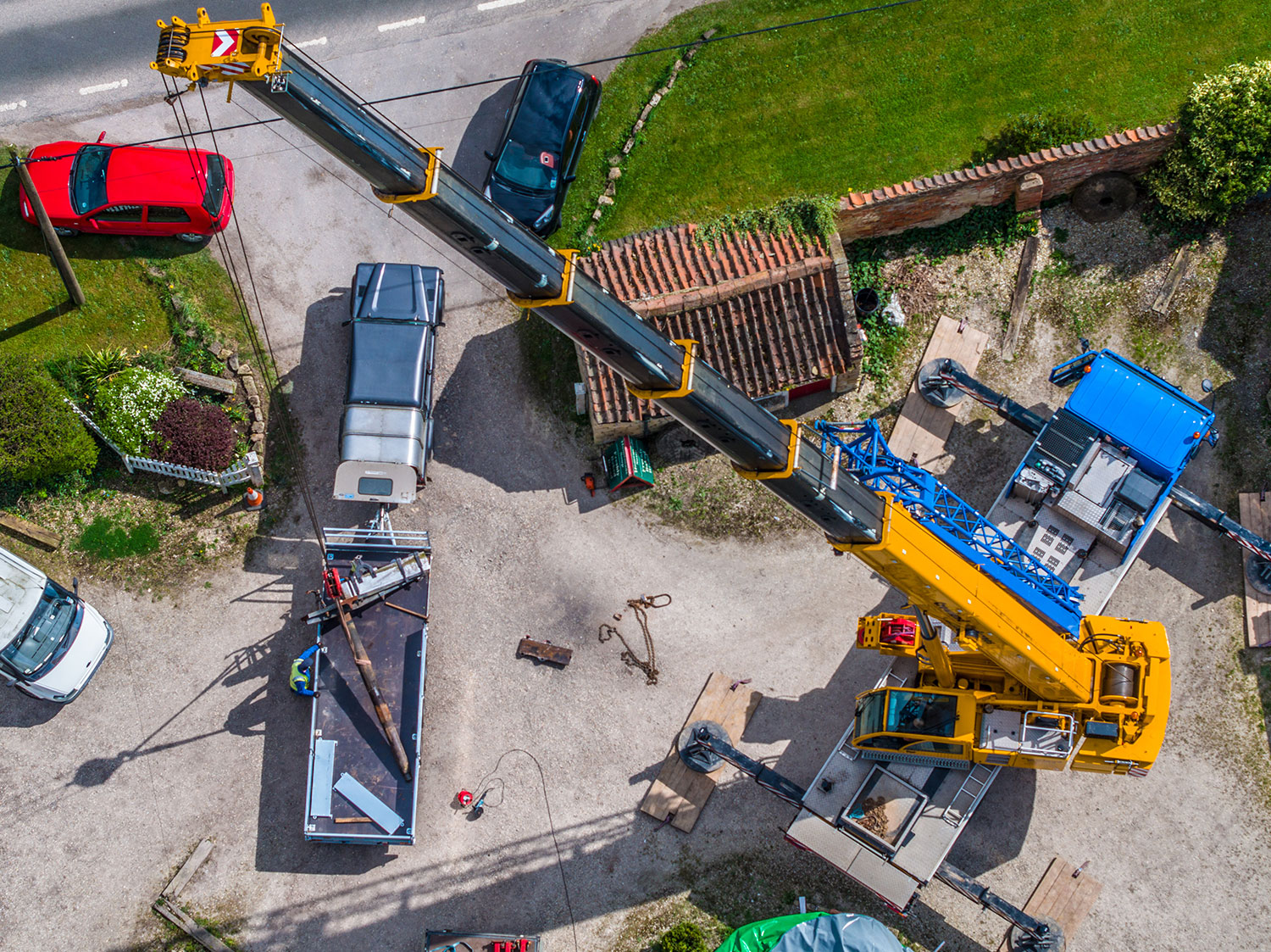 birds eye of crane repair