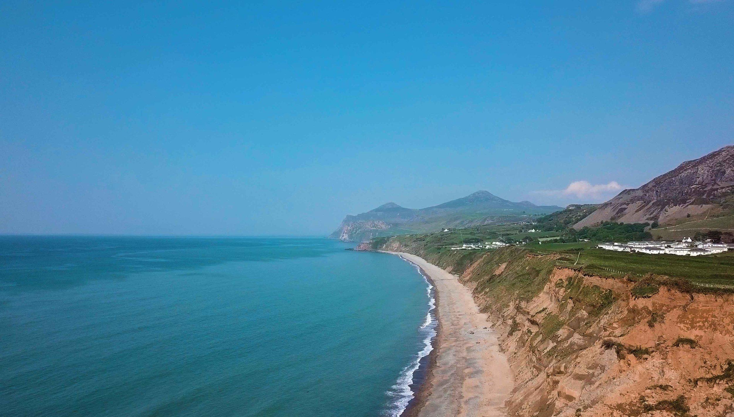 sunny coastline