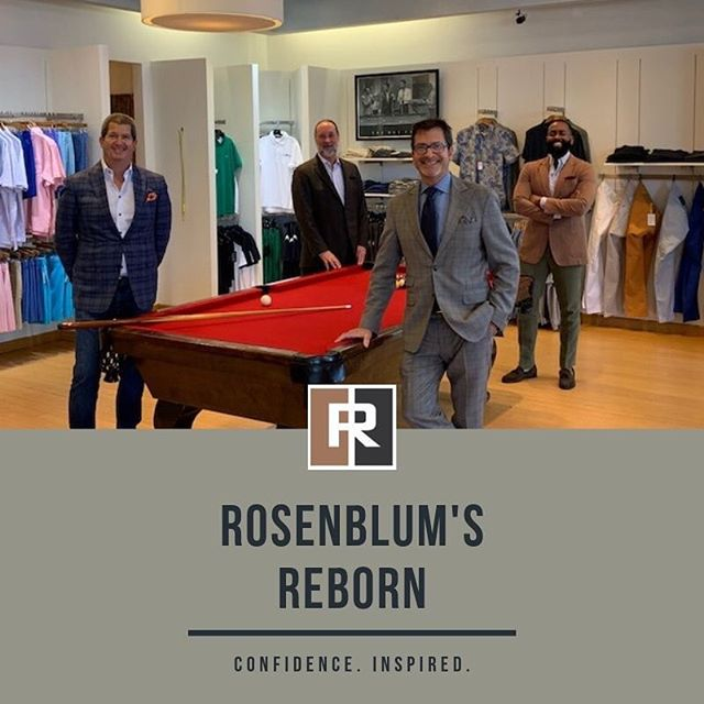 It's a new day at Rosenblum's. We've returned to our tradition of focusing solely on men's fine clothes. Stop by this weekend and see how we've changed the way you shop in our stores. #ConfidenceInspired