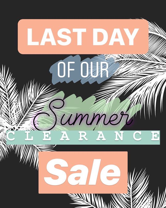 We're open til 4! Come hang out, shoot some pool 🎱 and shop the last day of our summer clearance sale 🌴