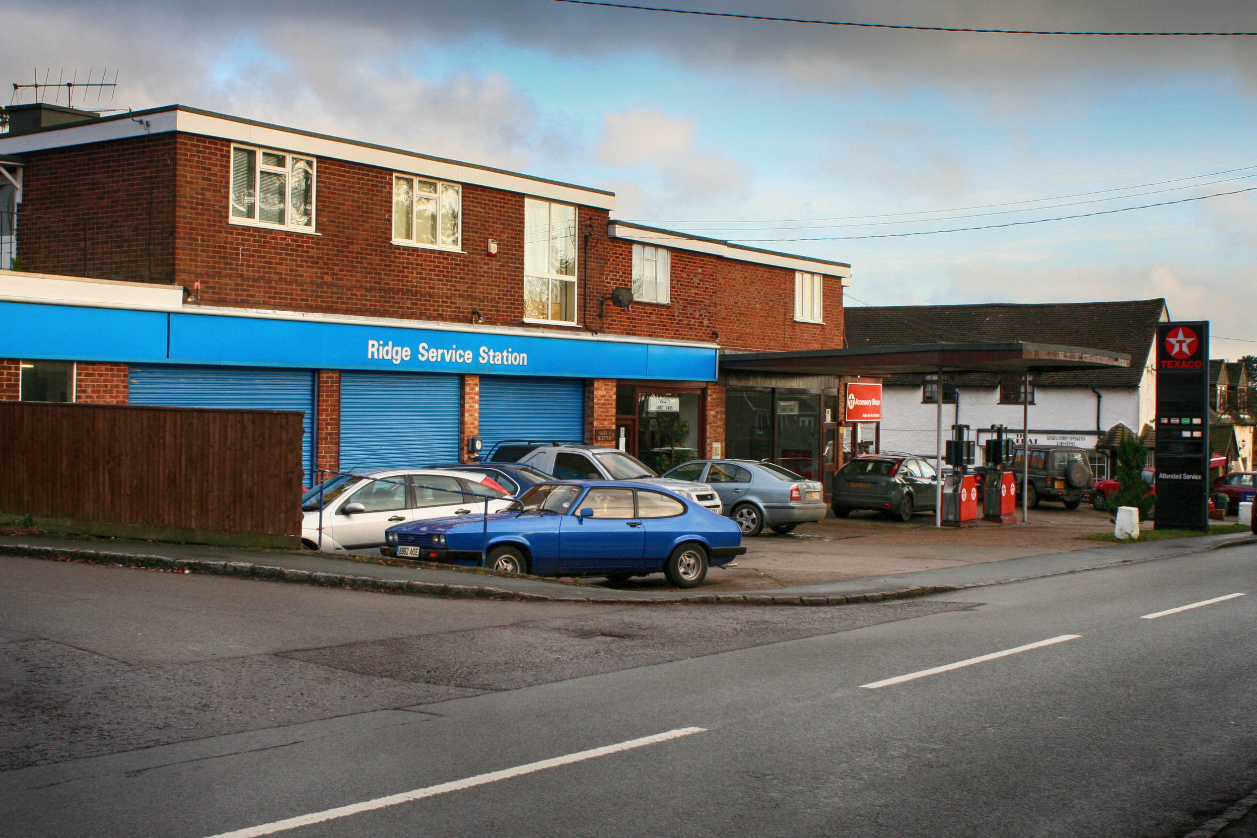Old service station before development