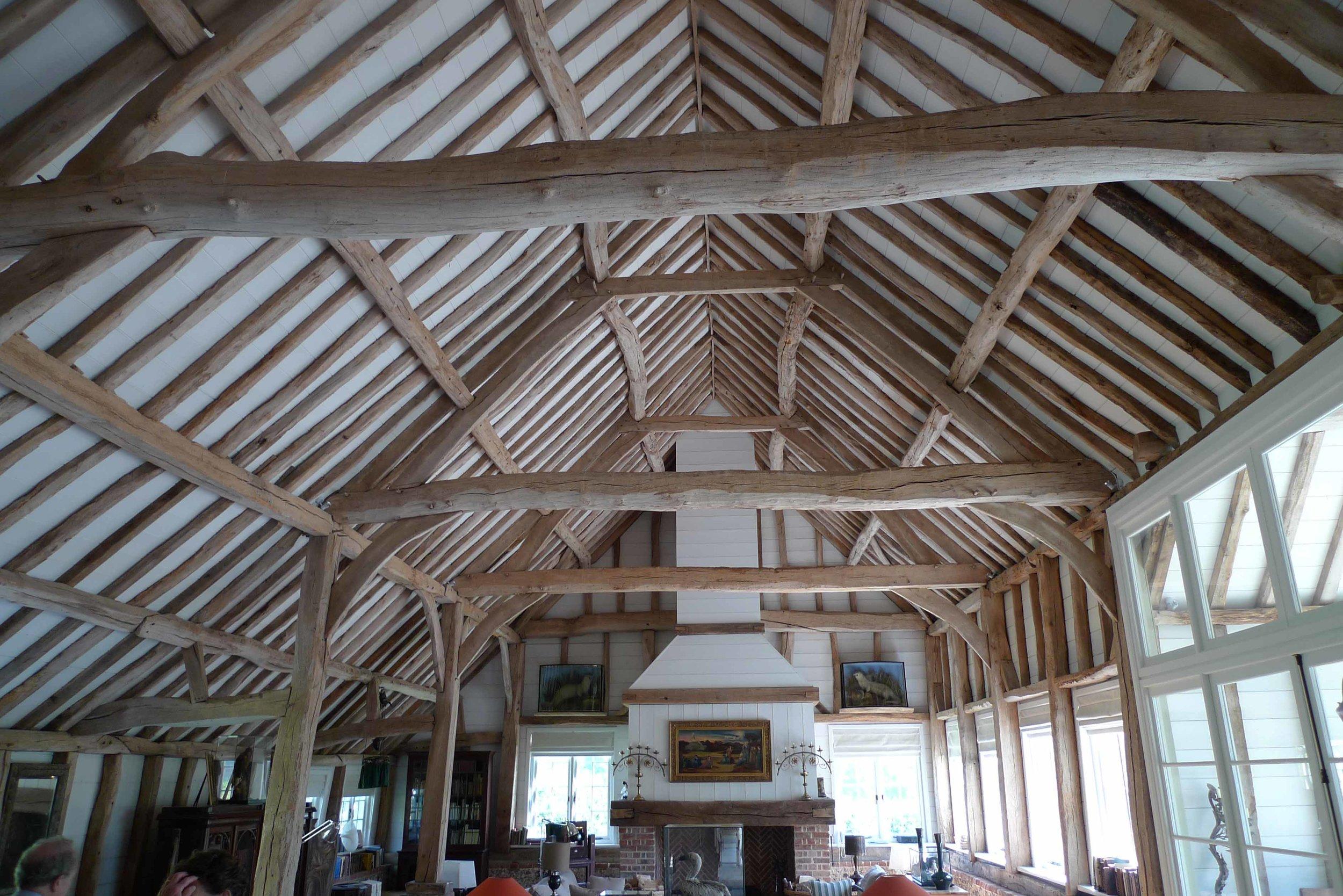 Main barn interior after construction