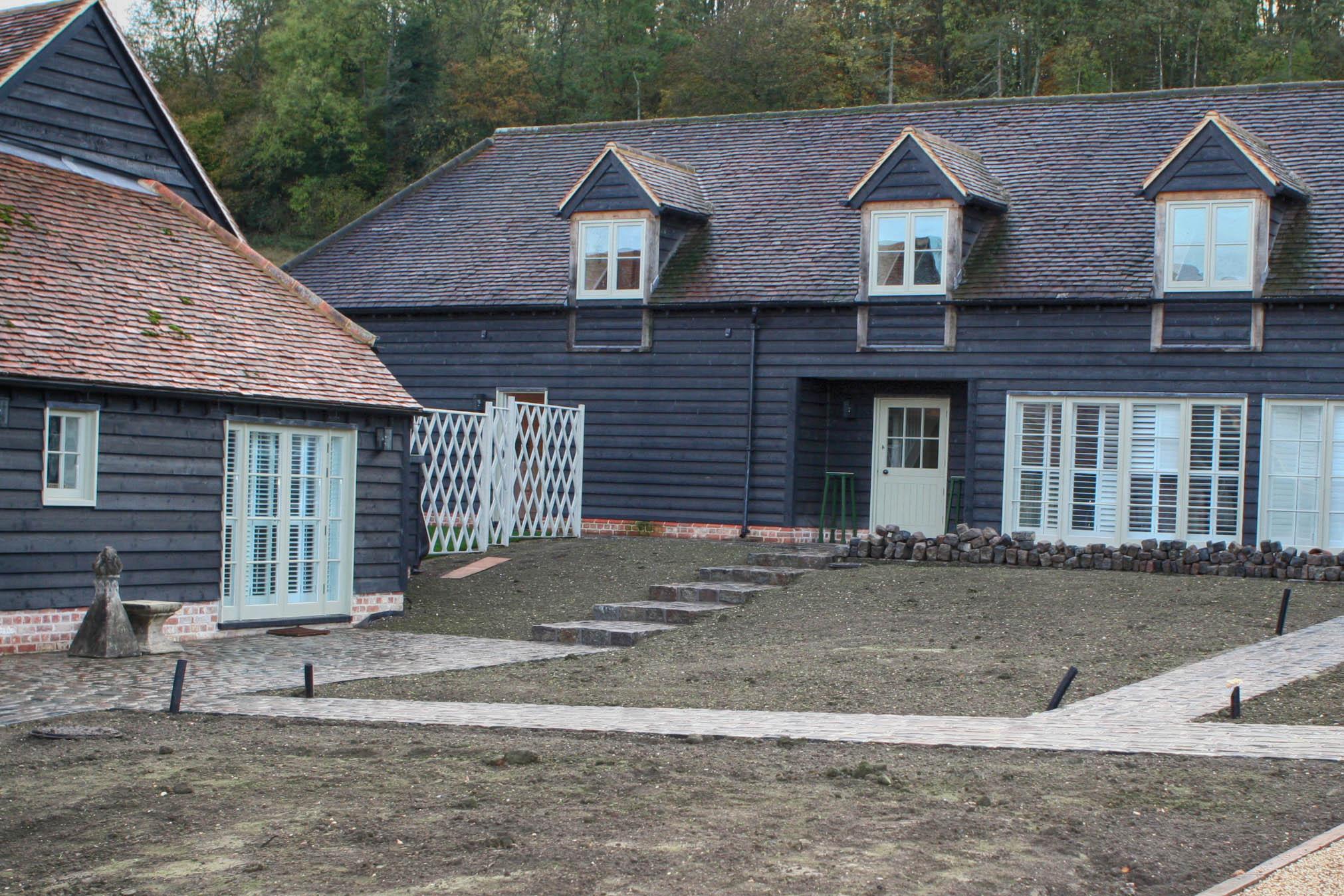 Barns under construction