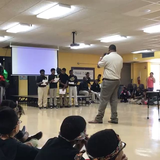 Throwback Thursday: last week, scholars celebrated Black History Month by attending an assembly of their peers and guest presenters displaying their talents, passions, words and ideas with incredible performances. #blackhistorymonth #blackexcellence #scitech #chargers #tbt #renew