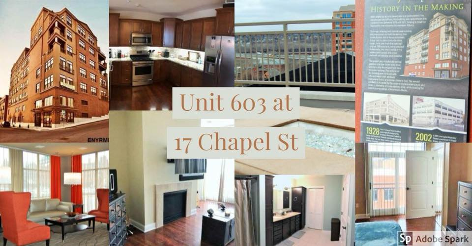 Take a look at this wonderful boutique condo in the entertainment district of Albany. Just a stones throw from The Palace Theatre.This exclusive building at 17 Chapel St features a heated garage, rooftop deck to enjoy those warm summer months, storage units for tenants and a state of the art fitness room. Updates throughout this listing show the attention to detail and pride in ownership. Call or text Marissa today at 518-450-9216 to see this beauty for yourself!