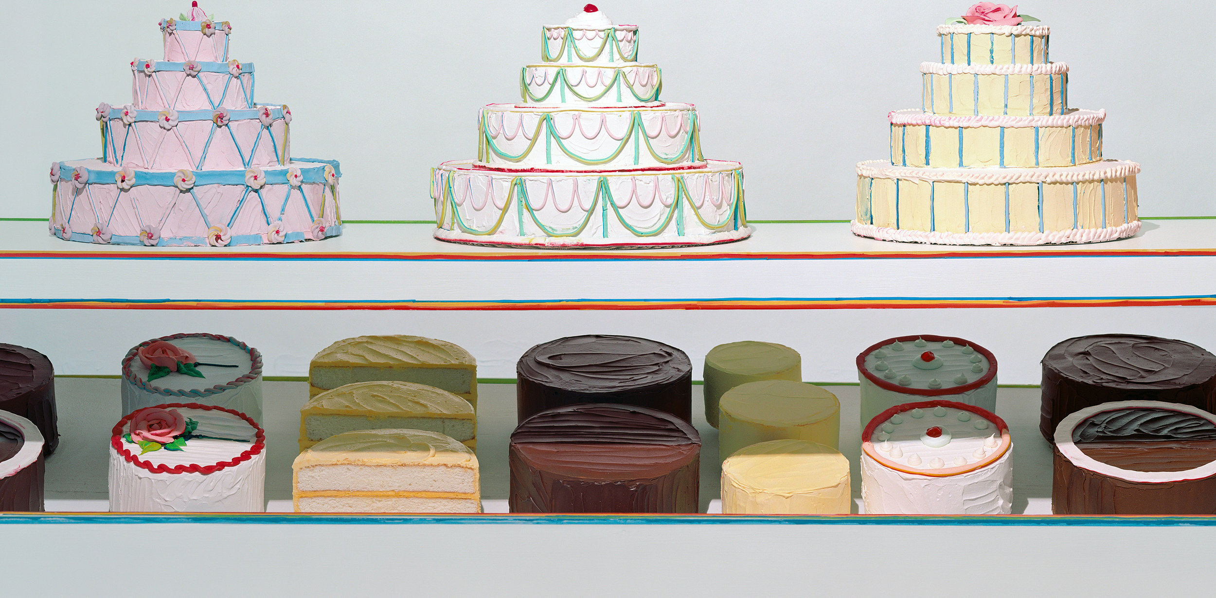 Sharon Core,  Cake Counter , 2003, C-print, 37 x 72 inches. Image courtesy collection of Peter Norton.