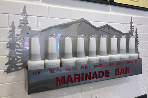 Marinade Bar - We can marinade any item from the case, just add $1.00 per pound price. Sesame Teriyaki, Kalbi, Carne Asada, Fajita, Fra Diavolo, Piri Piri, Tandoori, Caribbean Jerk, Moroccan, Thai.