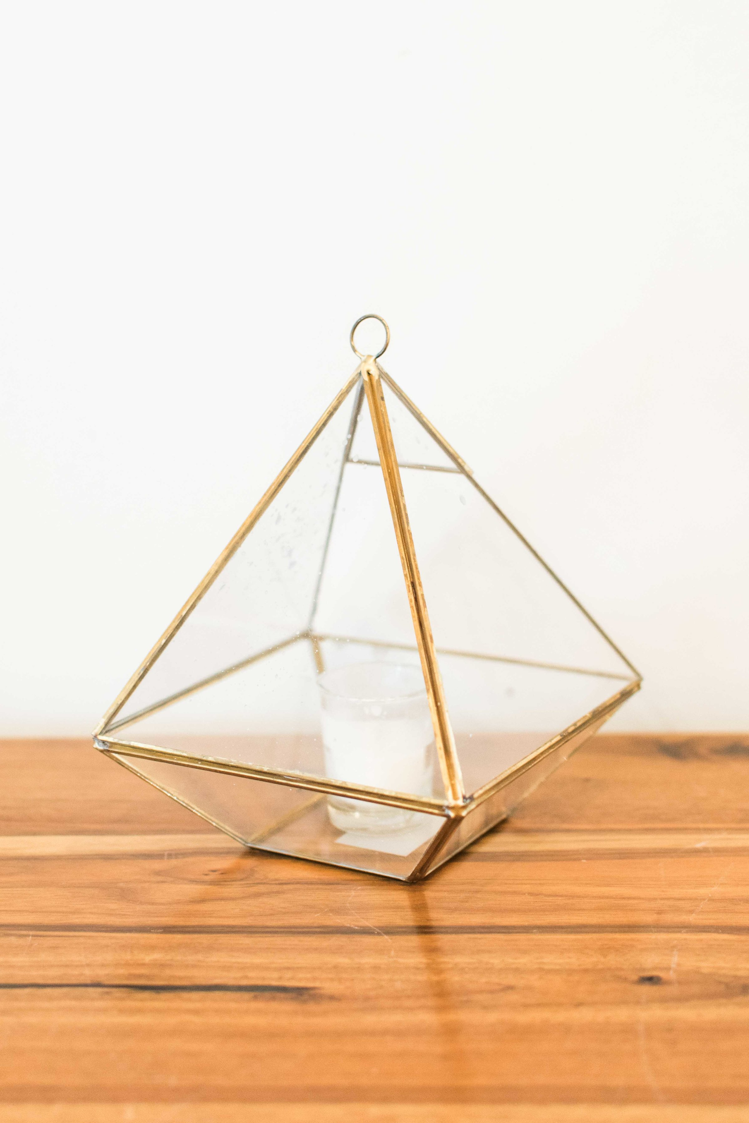 Small Triangle with Candle Holder