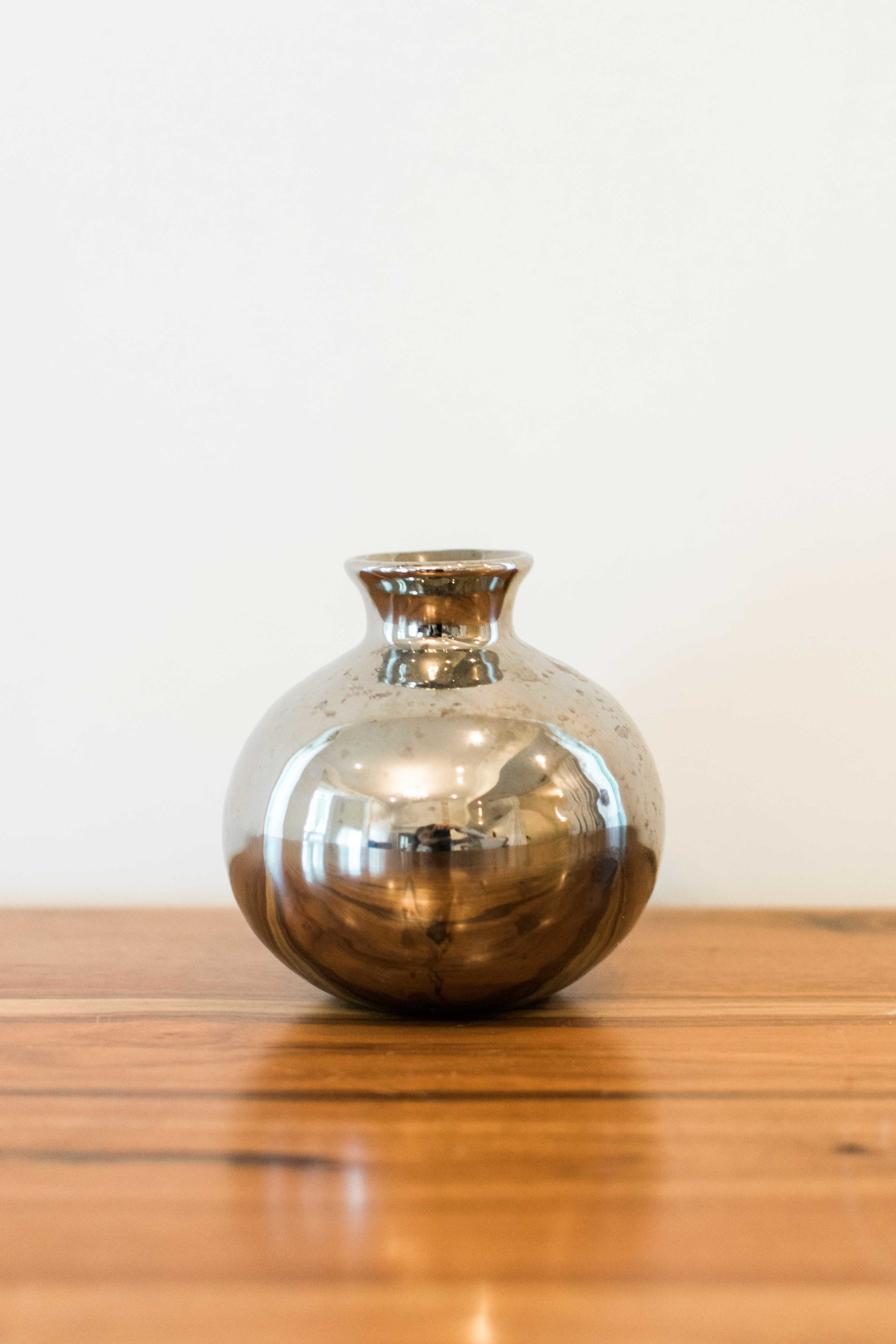 Silver Mercury Small Mouth Vase