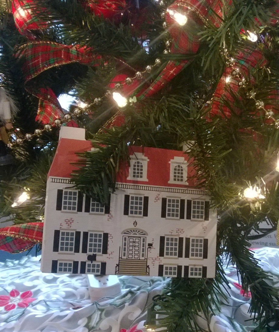 Holiday ornament depicting the Historical Society building at 24 East Church Street