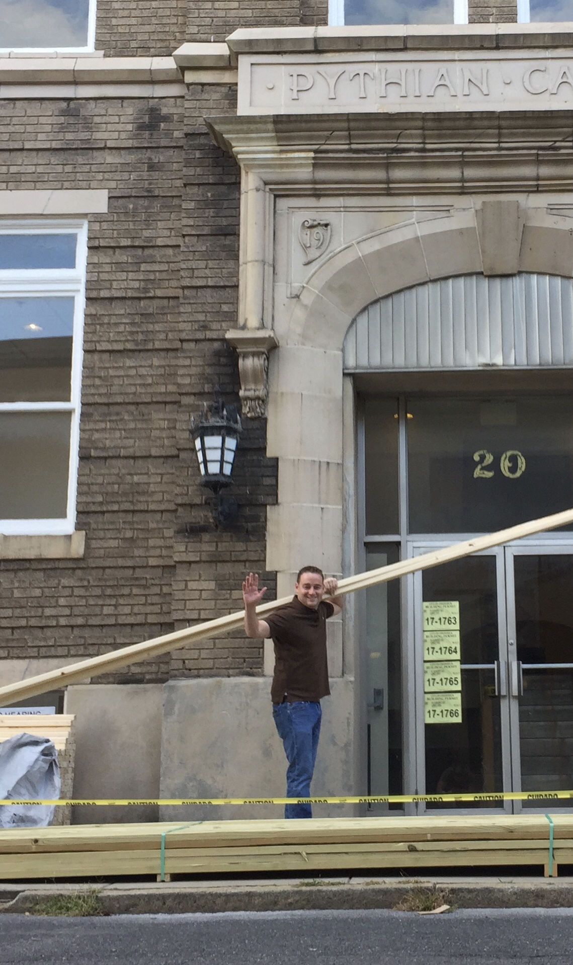 Michael Fitzgerald of Gideon Properties leading current renovations of the Pythian Castle