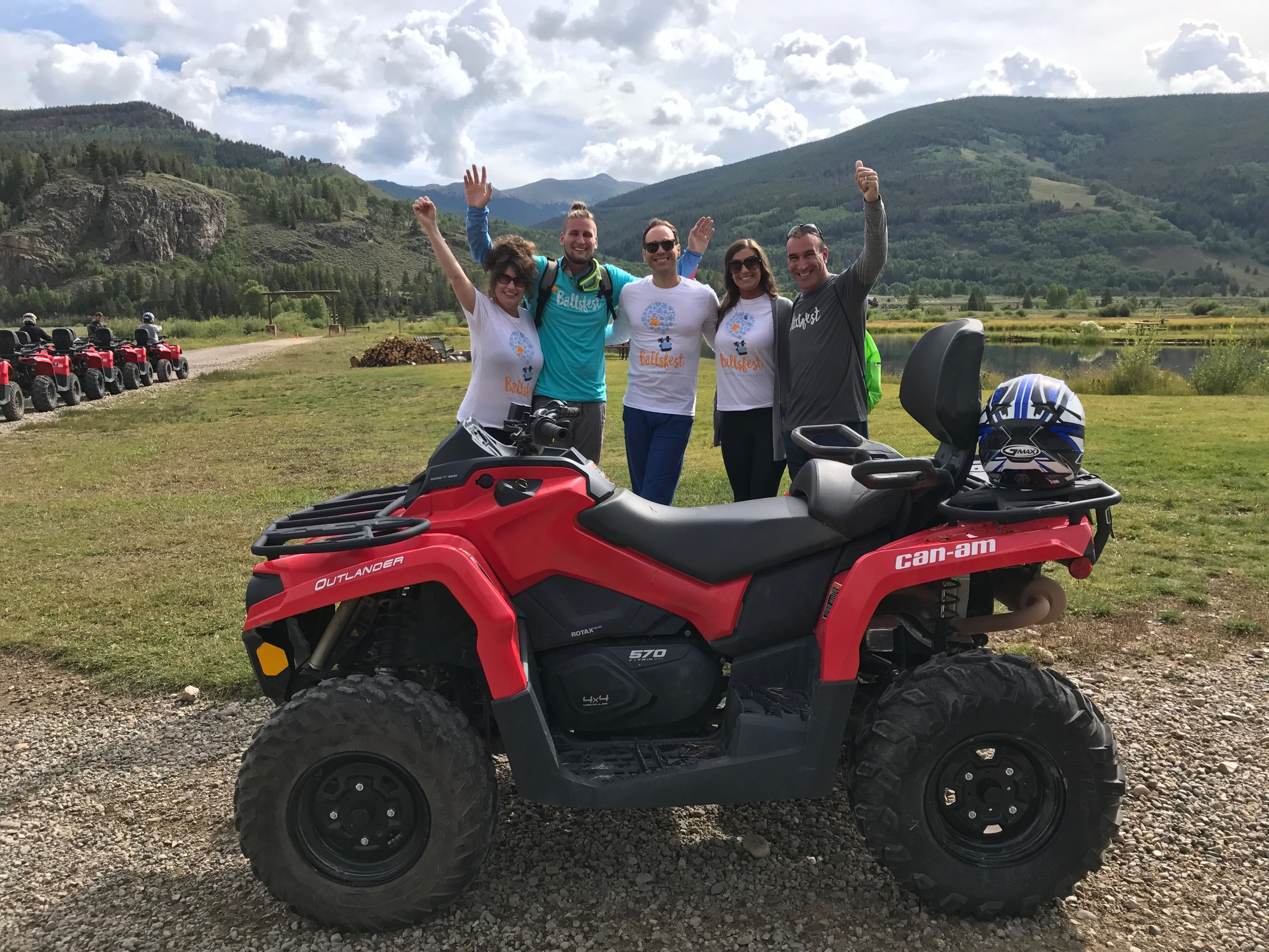 August, 24th 2017 - Frank, Dante and family riding in style in the Rockies!