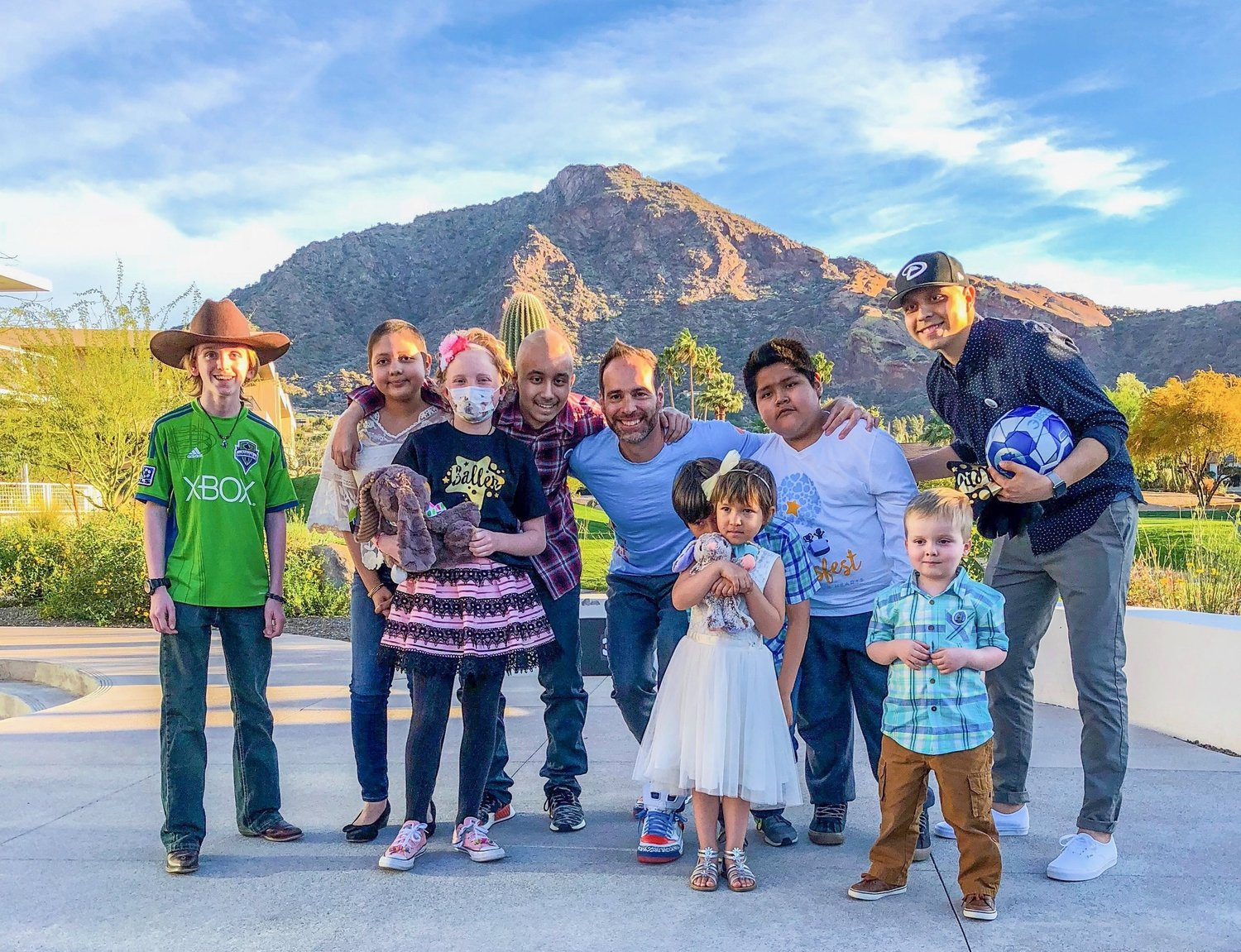 Frank and the kids at Ballsfest West in Paradise Valley, AZ March of 2018