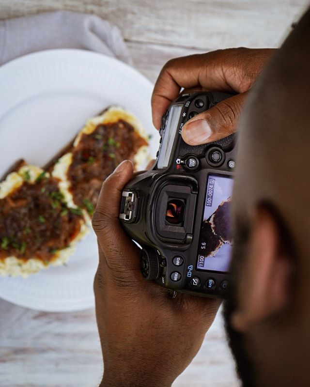 Behind the scenes with our buds @issue.91 (whipped feta toast getting its close up)