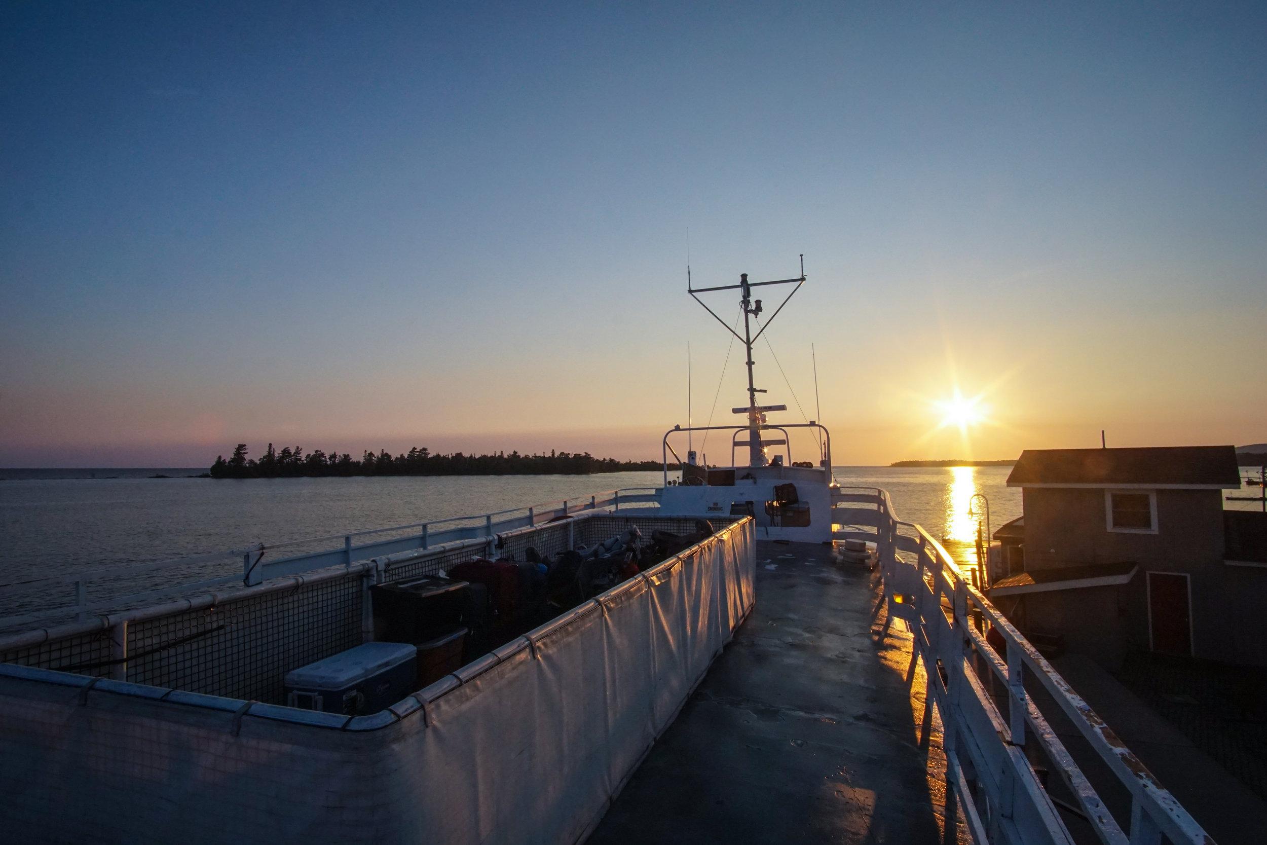 Sunrise over Copper Harbor