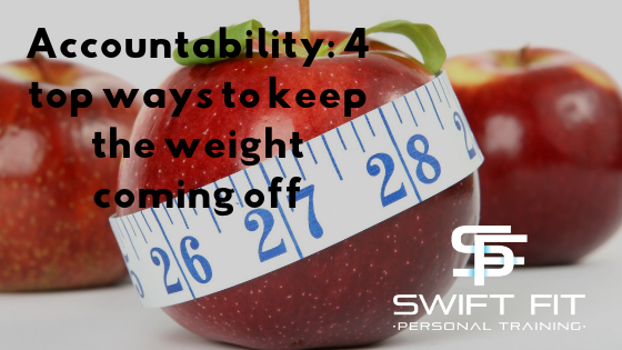 Accountability keep the weight coming off