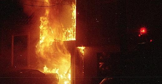 Fire on Beverly Street. San Francisco, California. 2007. . #film #35mill #sanfrancisco #california