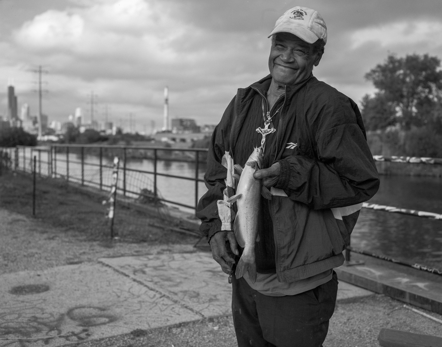 Thomas with Catfish, Chicago River ©2013