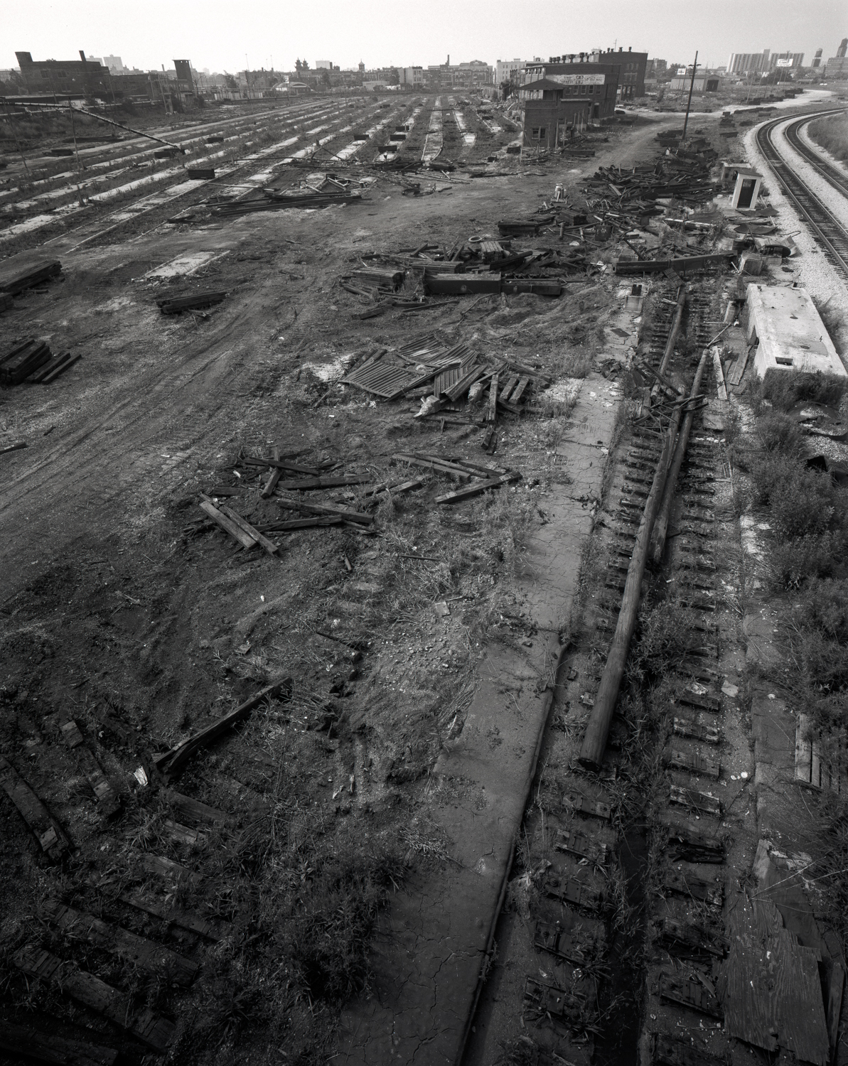 Disappearing Railroad Tracks Chicago ©1984