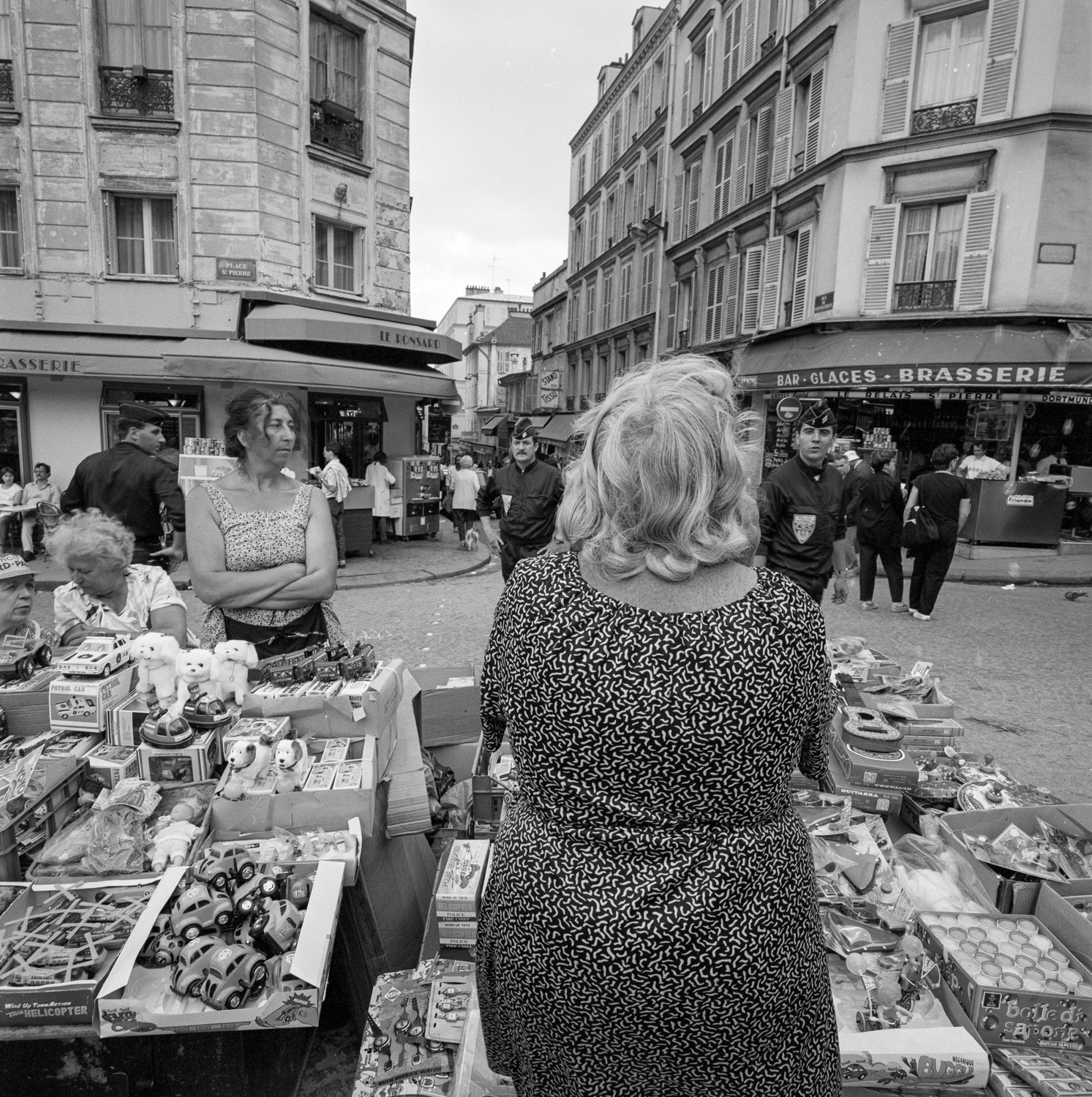 Vendor Pigalle with French National Police Paris 1985