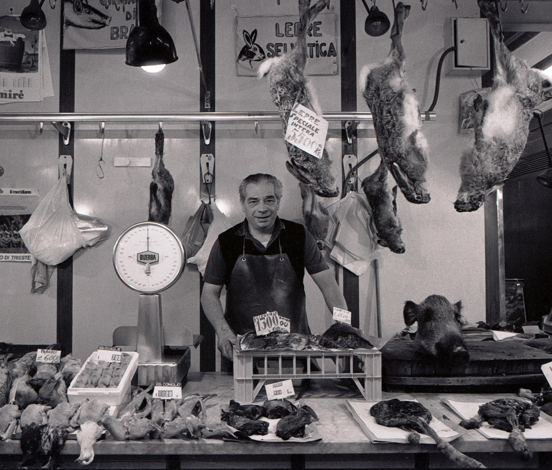 Wild Game Seller Mercato Centrale Florence 1983