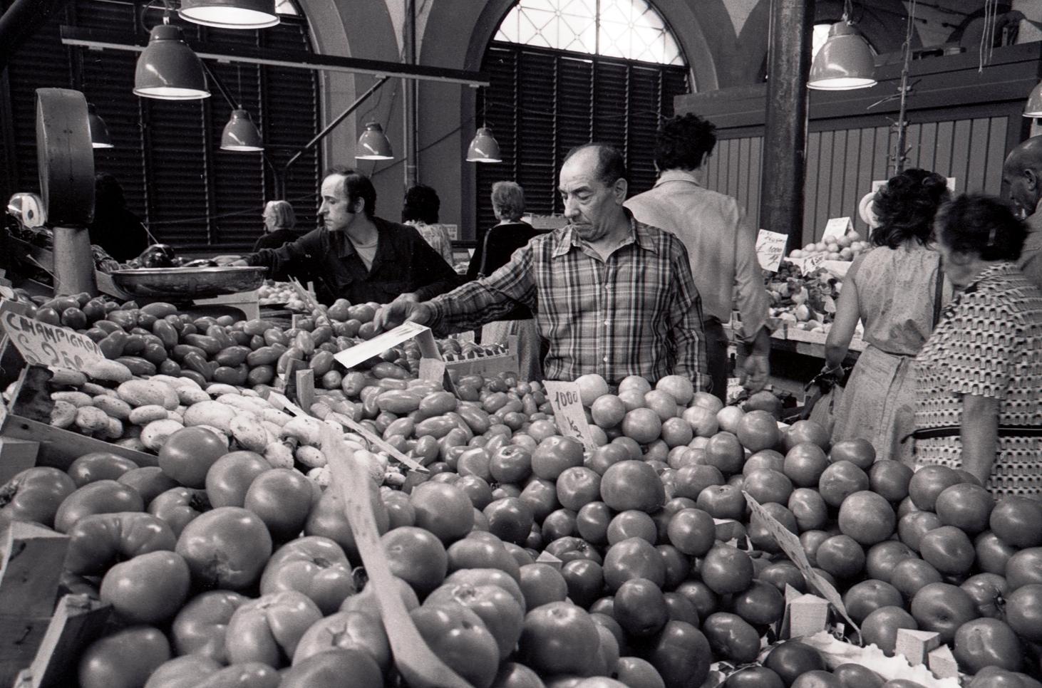 Tomato Seller Mercato Centrale Florence 1983
