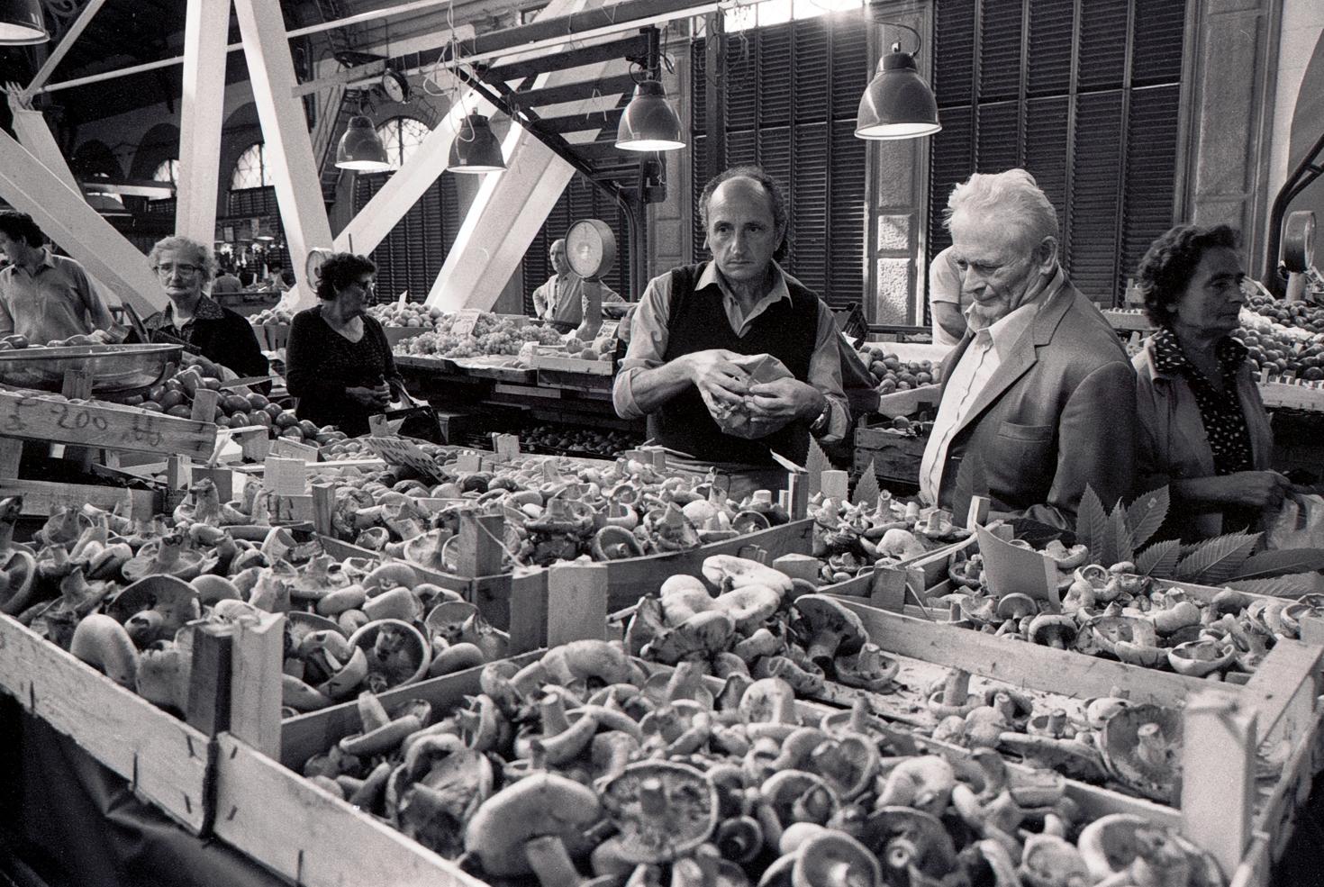 Mushroom Seller Mercato Centrale Florence 1983