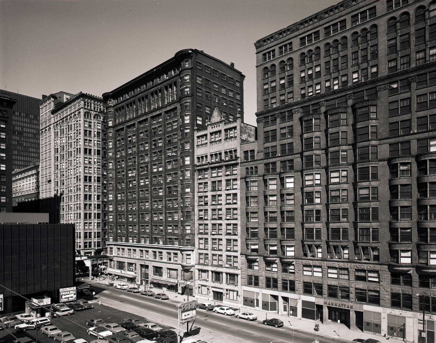 Manhattan with Old Colony and Fisher Buildings ©1980