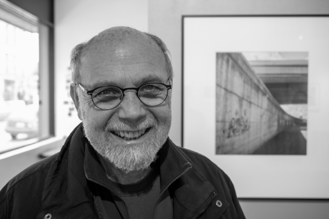 Ron at Prospectus Gallery Exhibition in 2014                                                                      photo by Michael Mauney