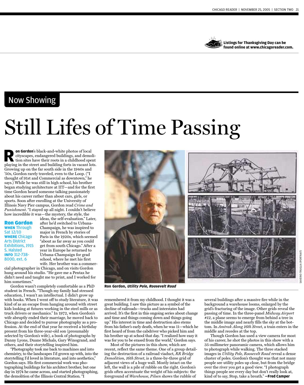 Fred Camper Chicago Reader 2005
