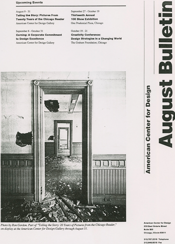 American Center for Design Chicago Reader Exhibit