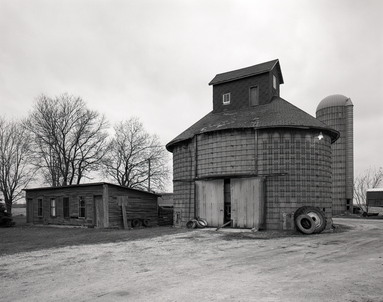 Dyer Rathbun Farm Round Barn Illinois 2000