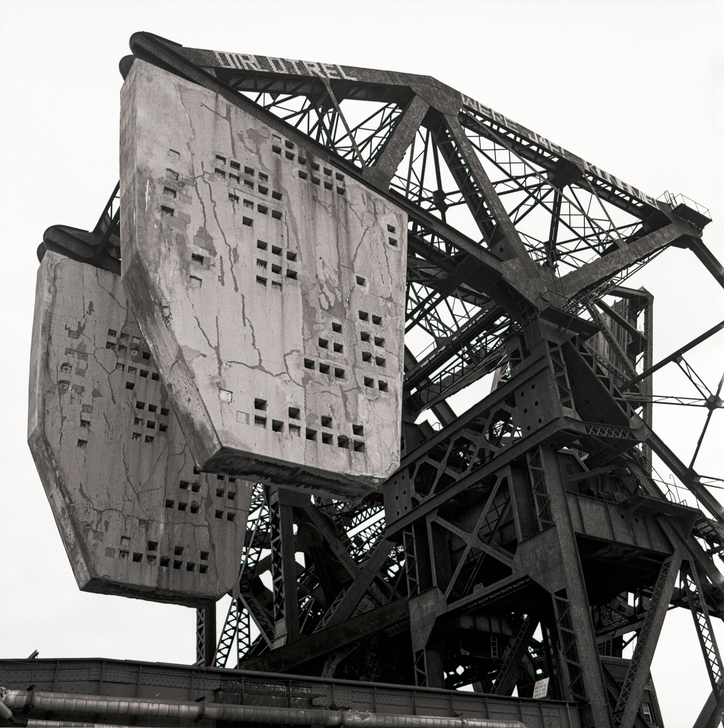 Railroad Bridge with Counterweights Chicago River