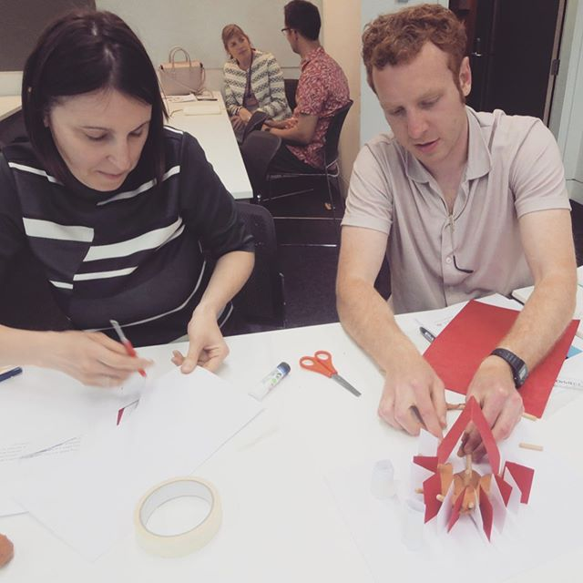 Great fun getting ready to deliver the school architecture workshops. Making models with the other architecture ambassadors. There was a bit of pressure. 😅  Good to see Ben and Ralph and do some making with Raffaella.  #architectureworkshop #architecturemodels #architecturemodelmaking #brightonarchitect #oxfordarchitect #brightonandhove #architectureplay #modelmaking #me