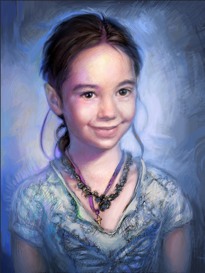 Portrait of Izzy Williams  digital painting