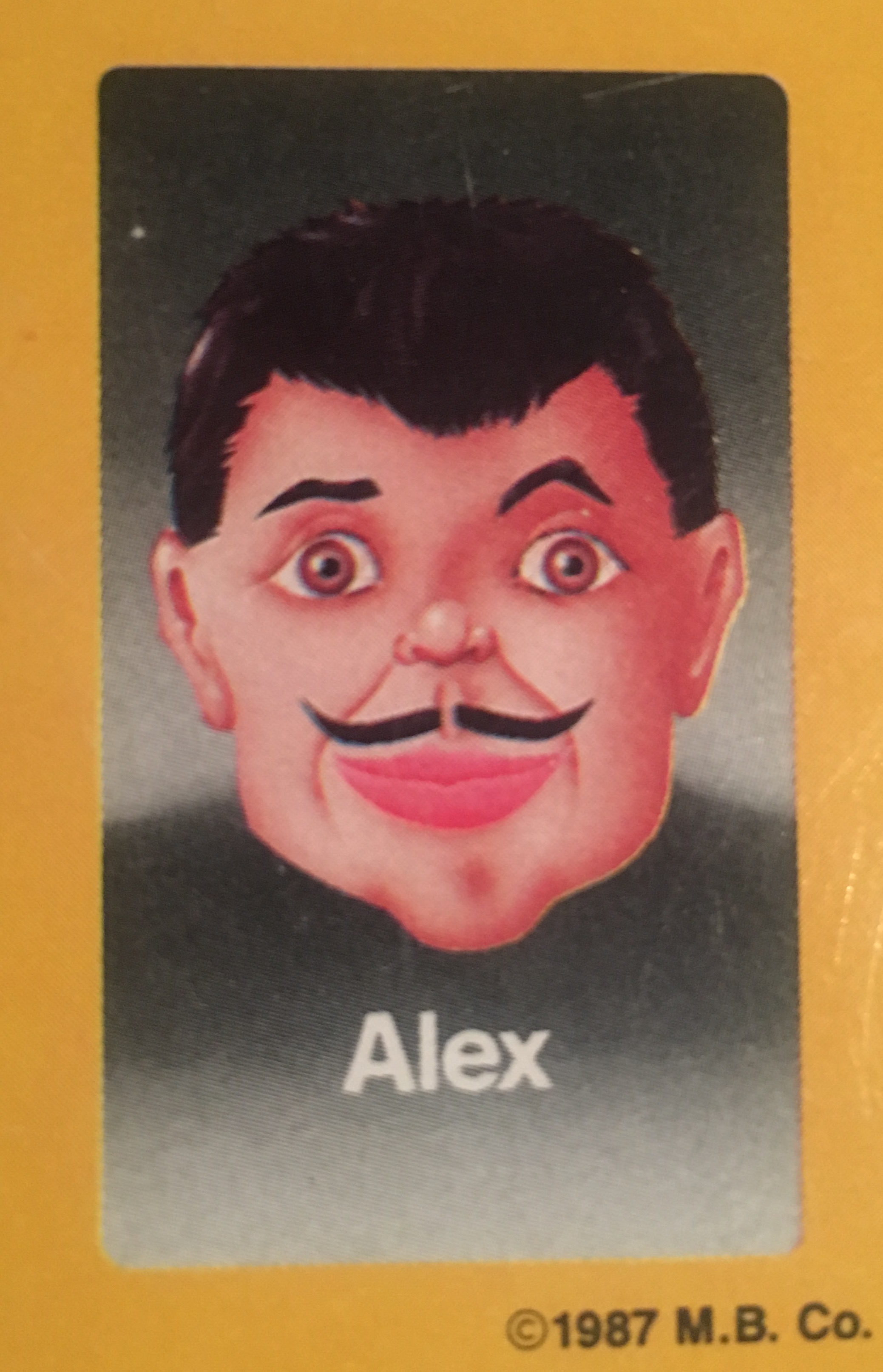 """- Alex was only 25 when his picture was used for Guess Who?®, so investment wasn't at the top of the list after he started receiving millions of dollars in residuals from game sales. After a decade of bottle service, valet parking, and """"making it rain,"""" at the swankiest clubs in Manhattan, he moved back to his small hometown of Alabama, New York with the chunk of change he had left. He settled down there with the high school prom queen from two years before his return. They are still happily married, with 12 healthy children."""