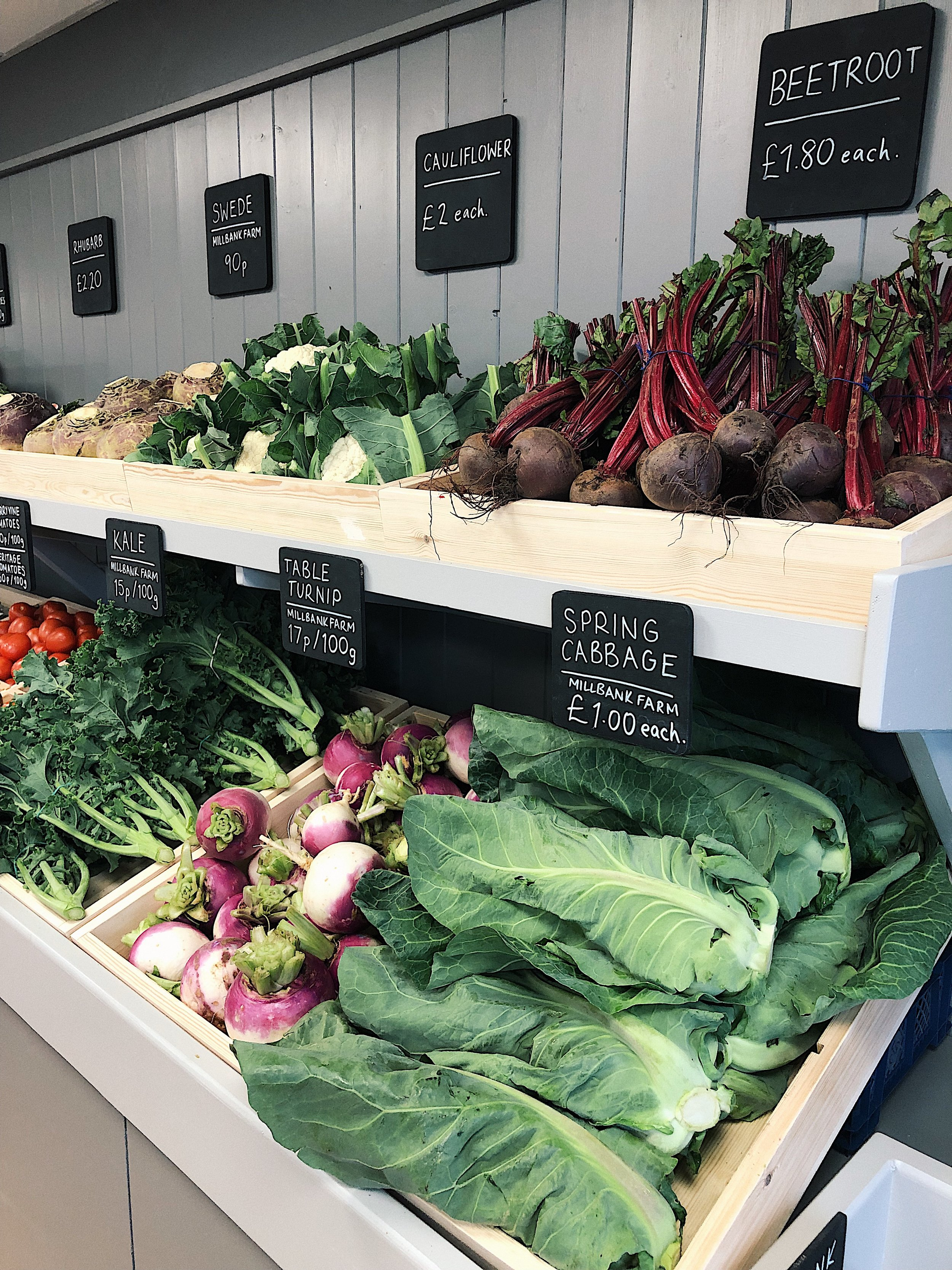 Much of the produce on offer is grown just 7 miles away in Killinchy on the family farm – keeping food miles low and food fresh!