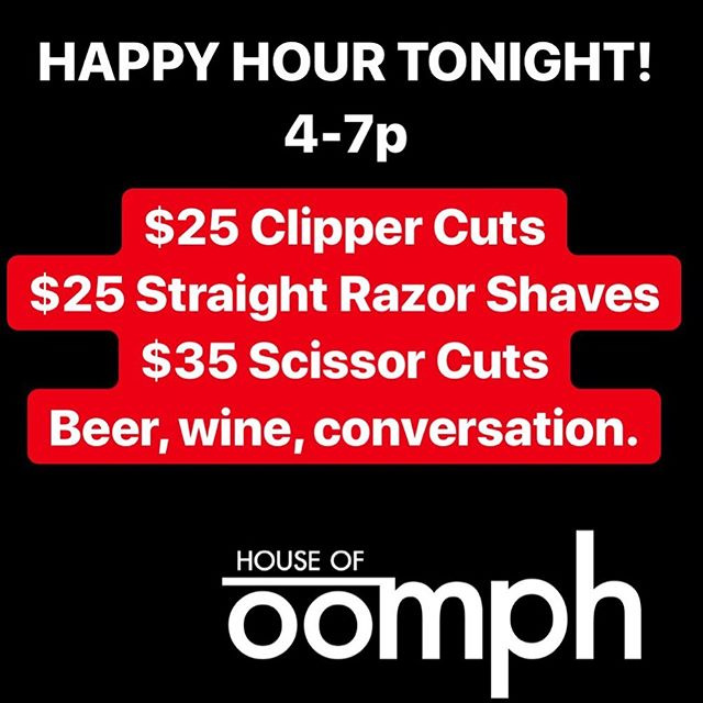 Did you know that we offer Happy Hour services every Tuesday, Wednesday and Thursday? These are discounted services offered as a last minute availability so they can only be booked by calling that morning.  We have spots open tonight! ☎️ 603-766-2336 #seacoastnh