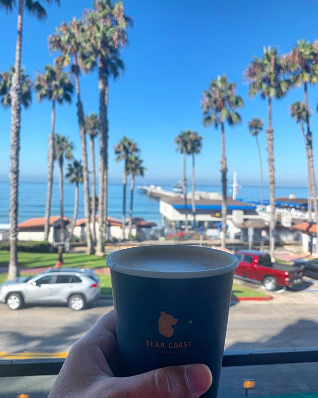 Morning brew from our neighbors @bearcoastcoffee Best way to start the day in San Clemente. #sanclemente #sanclementepier #socality #oc #orangecounty #southcounty #saltlife #hotellife #casatropicana